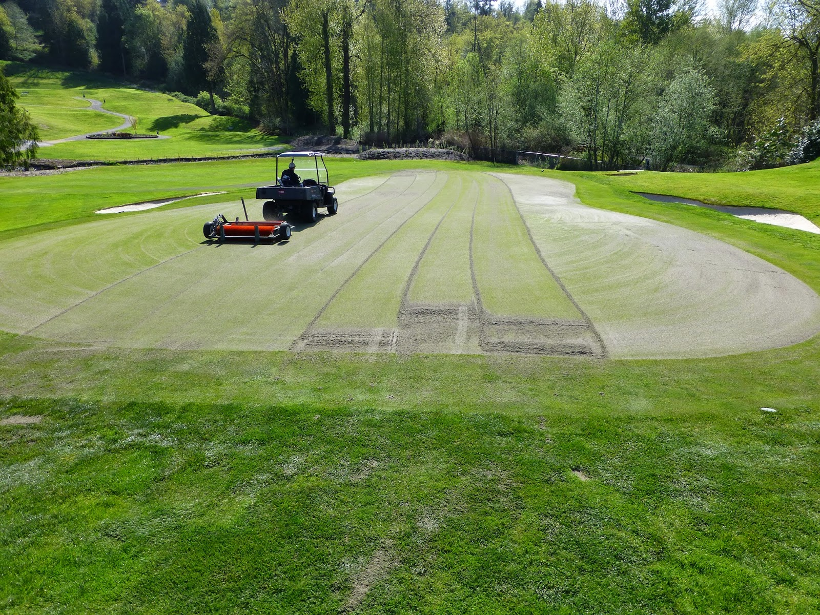 Golf Course Maintenance - Aeration
