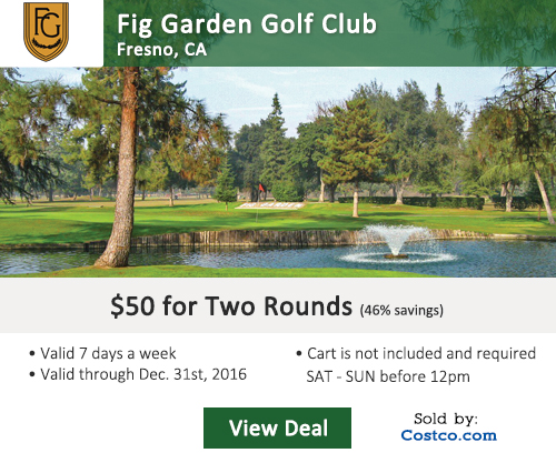 Costco Online Special Fig Garden Golf Club Tee Times
