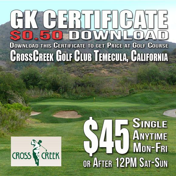 CrossCreek Golf Club Temecula, CA Tee Time Special