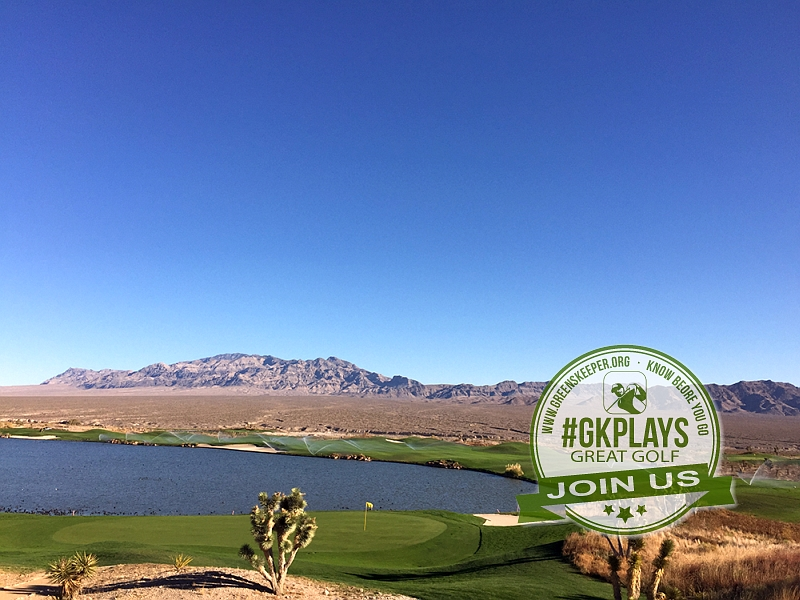 Las Vegas Paiute Golf Resort Las Vegas, Nevada. View of Snow Mountain Course from Clubhouse