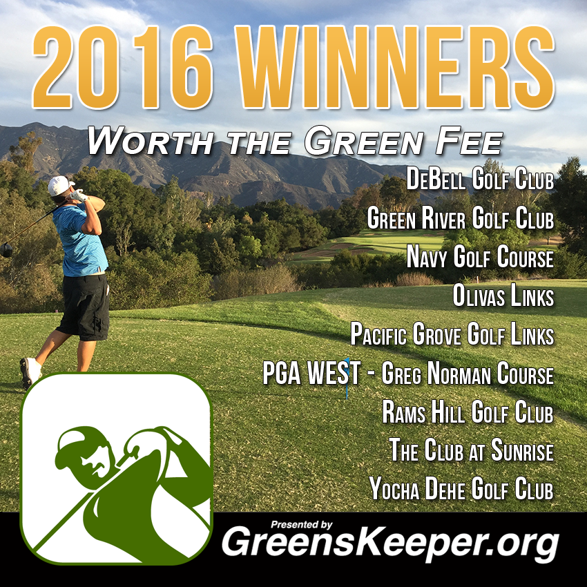 Greenskeeper.Org Awards Golf Courses Worth the Green Fee for 2016