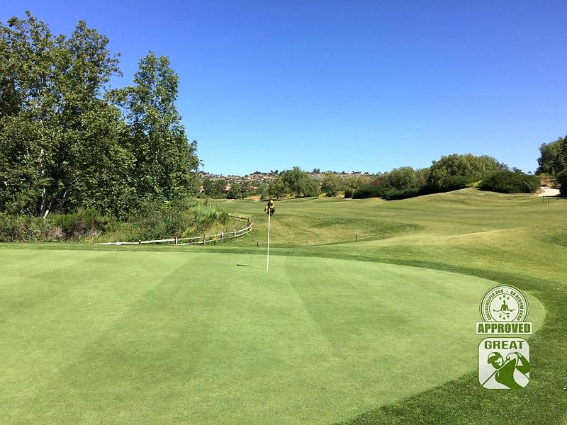Golf Club of California Fallbrook California Hole 1 Green-side