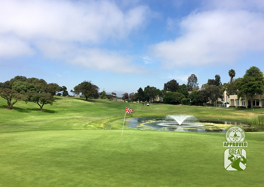 River Ridge Golf Club Vineyard Course Oxnard California GK Review Guru Hole 16