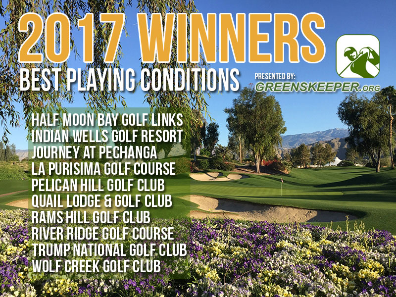 Greenskeeper.org Awards Best Playing Conditions 2017